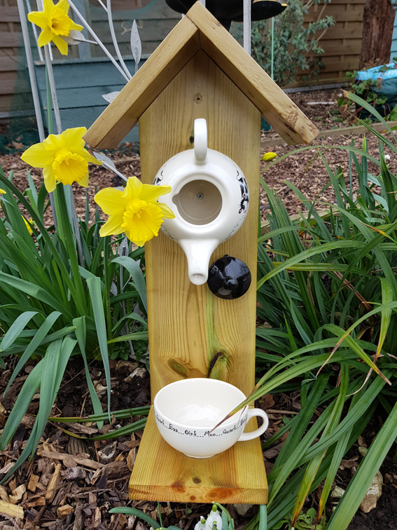 Moo cow bird feeder